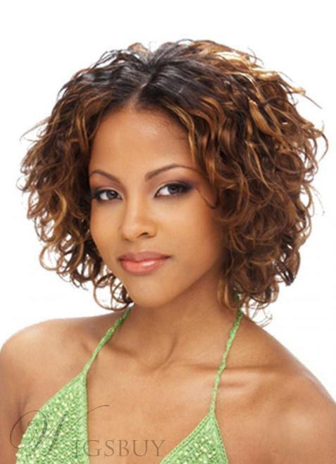10 Inches Light Auburn Human Hair Medium Wavy Lace Front Wig