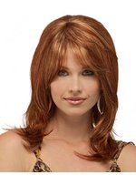 100% Human Hair Medium Silky Straight 14 Inches Perfct Wig