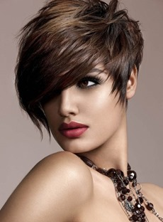 New Fashion Trend 100% Human Remy Hair Short Straight Quality Wig