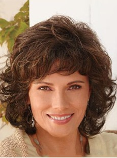 Top Quality Charming Medium Curly 12 Inches Popular Synthetic Wig