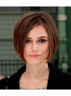 Fashion Trend Custom Popular Hair Style Elegant Medium Straight Bob Lace Wig