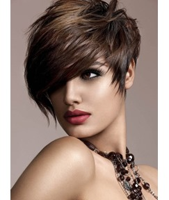 100% Human Remy Hair Short Straight Capless Wigs