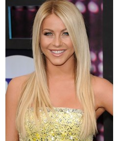 Custom Latest Trend Julianne Hough Hairstyle 100% Human Remy Hair Long Straight 20 Inches Sexy Lace Wig