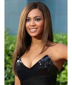 Beyonce Knowles's High Quality Smooth Natural Long Straight 20 Inches Lace Wigs