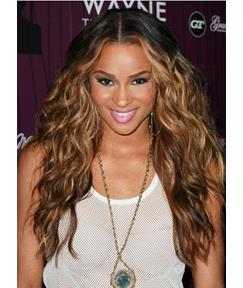 Ciara Hair Long Wavy 24 Inches 100% Human Remy Hair Lace Front Wigs