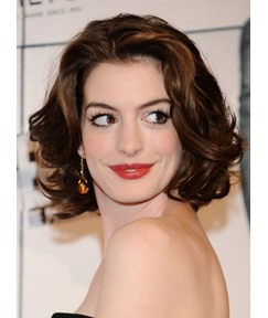 Custom Hathaway Hair Style Medium Curly Brown Natural 11 Inches Lace Wig