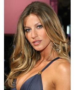 Custom 18 Inches Gisele Bundchen's Hairstyle Long Wavy 100% Human Hair Lace Front Wig