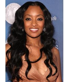 Long Wavy 22 Inches Super Natural Smooth Black Hand Tied Lace Wigs