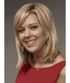 Custom Kate Gosselin Hair Style Top Quality Natural Medium straight 12 Inches Lace Wig