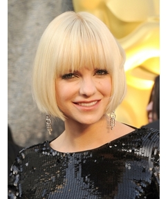 Oscar Celebrity Hairstyle Short Straight 8 Inches Wigs
