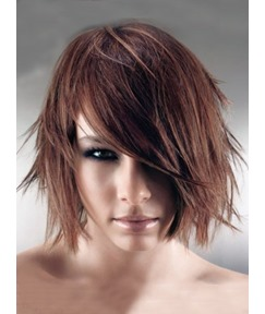 Custom Latest Popular Short Straight 8 Inches 100% Human Remy Hair Wig
