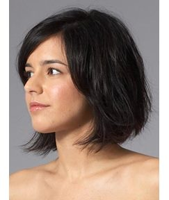 Custom Medium Wavy Bob Hairstyle Lace Front Wigs 10 Inches
