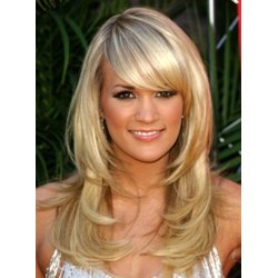 New Layered 100% Human Hair Charming Long Straight 18 Inches Unique Style Graceful Blonde Wig