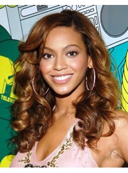 Custom Beyonce Knowles Hair 18 Inches Lace Front Long Curly 100% Human Hair Wig