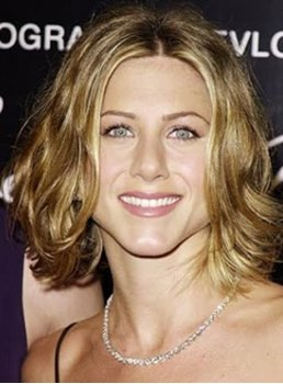Custom Jennifer Aniston's Charming Hairstyle Short Wavy Golden Brown Lace Wig 100% Human Hair 10 Inches
