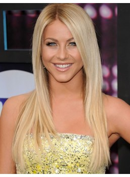 Julianne Hough Hairstyle 100% Human Remy Hair Long Straight 20 Inches Lace Front Wigs