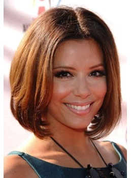 Hot Sale Fashionable Hairstyle Medium Straight 8 Inches Lace Wig