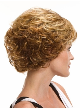 Popular Sexy Cheap Short Wavy Blonde Wig 8 Inches