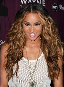 Ciara Hair Gorgeous Long Wavy 24 Inches Chocolate Color 100% Human Remy Hair Lace Wig