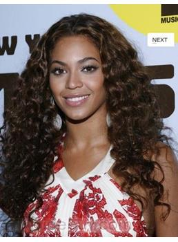 Top Quality New Style Custom Long Curly Natural 24 Inches 150% High Density Celebrity Lace Wig
