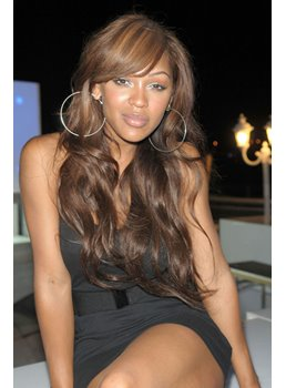 Meagan Good High Quality Long Wavy Natural Light Brown Capless 22 Inches Synthetic Wig