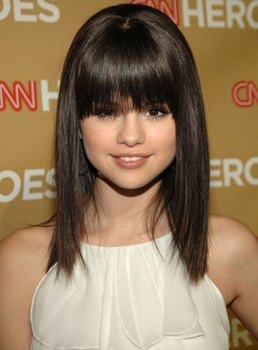 Custom 100% Human Real Hair Hand Tied Selena Gomez's Hair Style 12 Inches Celebrity Hair Wig