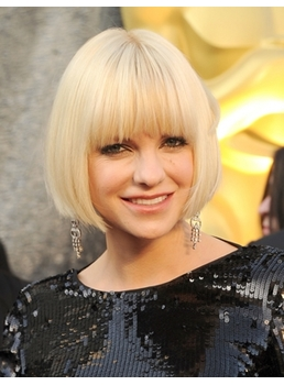 Oscar Celebrity Hairstyle Fabulous Short Straight 8 Inches Perfect Wig