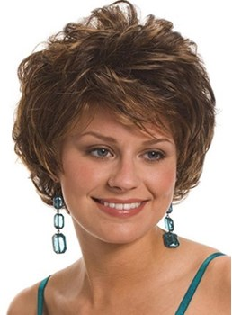 Graceful Short Curly Capless Synthetic Hair Wigs