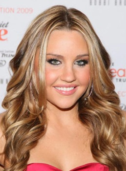 Amanda Bynes Hairstyles Custom Long Wavy 18 Inches 100% Human Hair Lace Wig