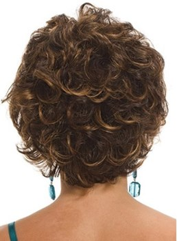 Short Curly Capless Synthetic Hair Wigs for Older Women