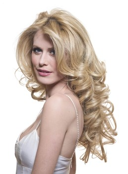 Custom 100% Human Hair-Sexy Long Curly 24 Inches Celebrity Lace Wig