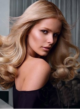 Sexy Charming Celebrity Hairstyle Long Wavy Smooth Blonde Natural Lace Wig 22 Inches