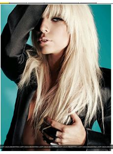 Amazing Long Straight White Blonde Lady GaGa 18 Inches Hair Wig