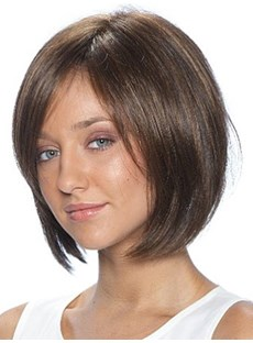 Medium Straight Capless 10 Inches Synthetic Hair Wig