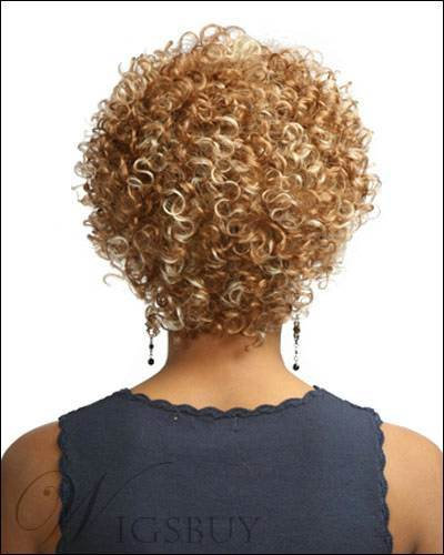 New Hairstyle Graceful Short Curly Blonde African American Wig 8 Inches
