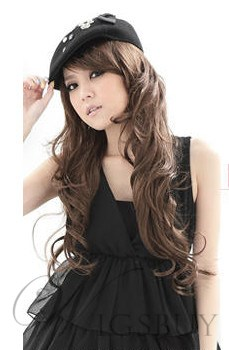 High Quality Pretty Long Wavy Blond Capless 28 Inches Synthetic Hair Wig