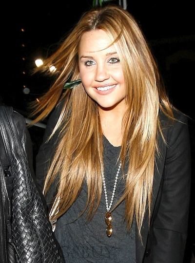 Custom Amanda Bynes Seduce Hairstyle Long Straight 24 Inches Shining Lace Wig