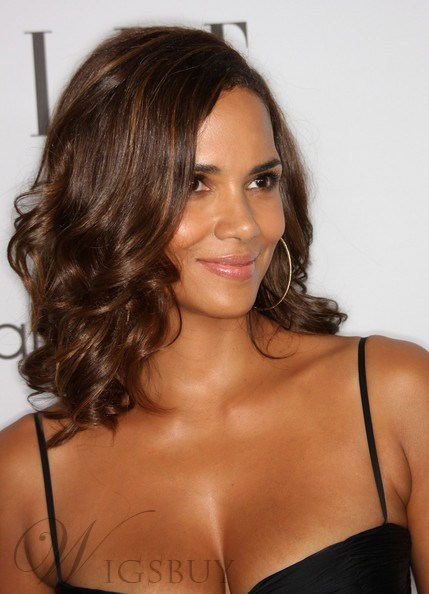 Halle Berry 100% Human Real Hair Hand Tied 14 Inches Lace Cap Wigs