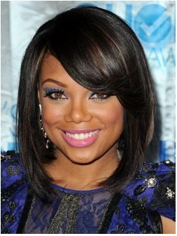 Hand Made African American Popular Hairstyle Medium Silky Straight 12 Inches Black Natural Lace Wig