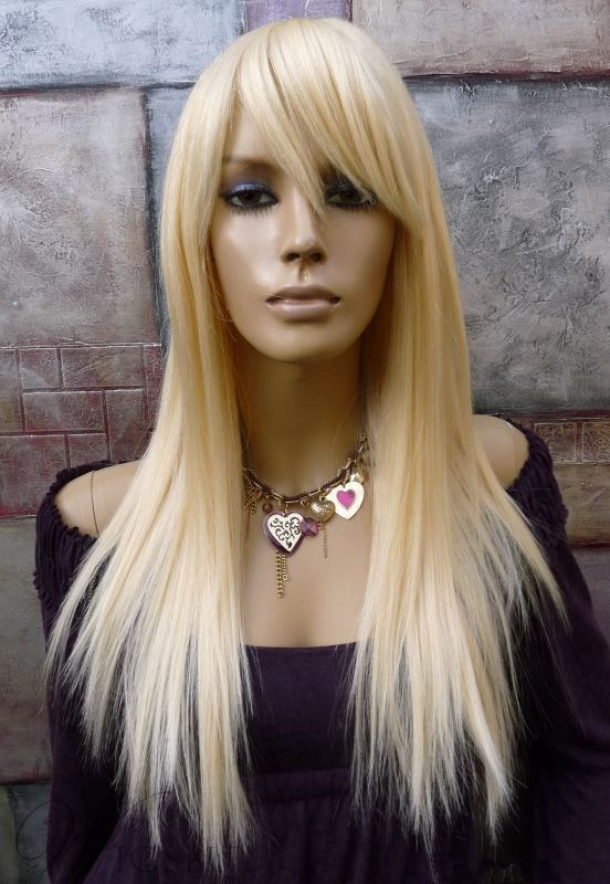 Natural Long Straight Capless Synthetic Hair Wig 22 Inches