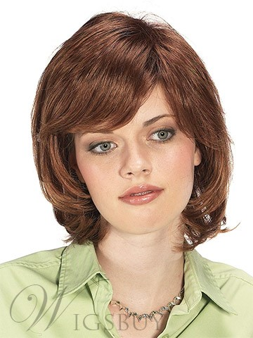 Unique Top Qualiety Elegant Short Straight Brown Wig 10 Inches