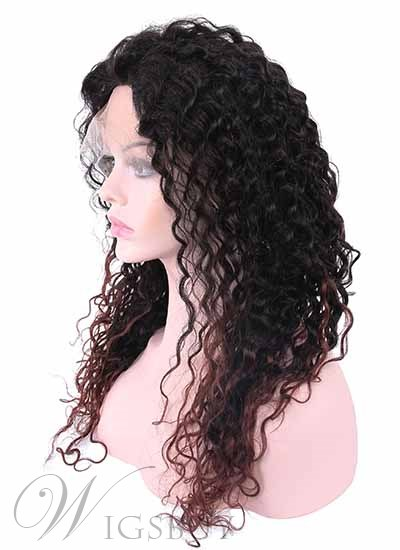 New Style Human Hair Hand Tied Lace Cap Long Curly Perfect Natural Wig 20 Inches
