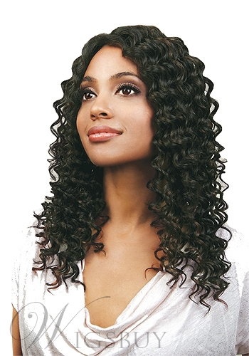 Custom Front Lace Hand Tied New Deep Wavy 100% Human Hair 18 Inches African American Wig