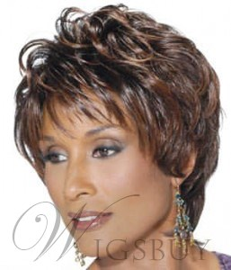 100% Real Human Hair Short Layered Straight Custom Wig