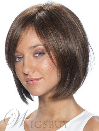 Fashion Medium Straight Capless 10 Inches Synthetic Hair Wig