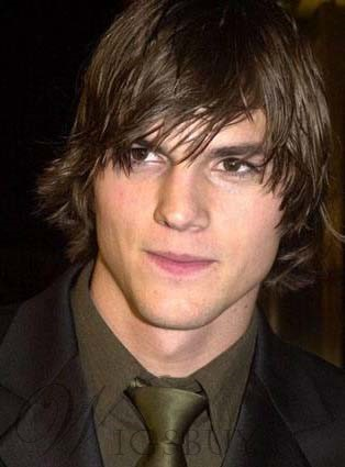Custom Ashton Kutcher's Hairstyle Most Handsome Short Straight Wig