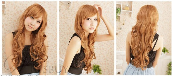 High Quality Sweet Long Wavy Blonde 24 Inches Synthetic Hair