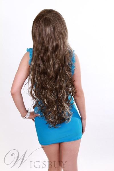 Top Quality Newest Style Long Curly 24 Inches Synthetic Hair
