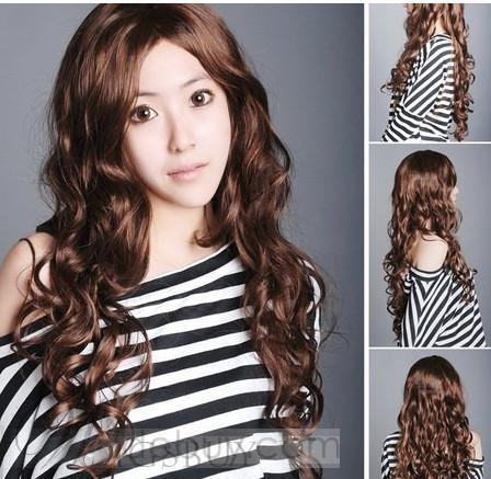 Fashion Natural Long Wavy 24 Inches Capless Wig