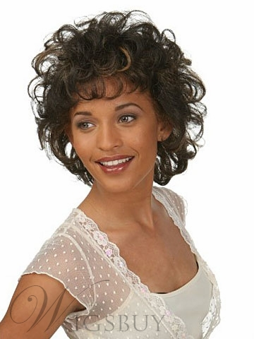 Cheap Beautiful Amazing Sexy Short Curly Brown Wig 8 Inches